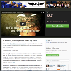 PEP CauseVox fundraising page