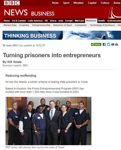 BBC Prison Entrepreneurship Program