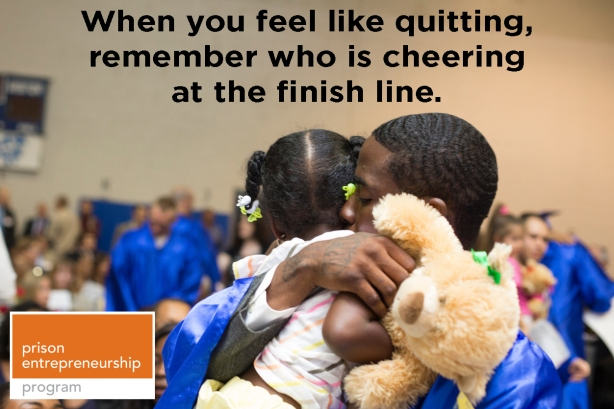 when you feel like quitting remember who is cheering at the finish line