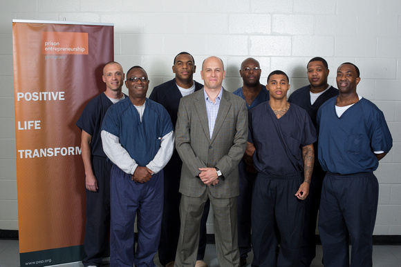 Lance Manning with Participants in the Prison Entrepreneurship Program
