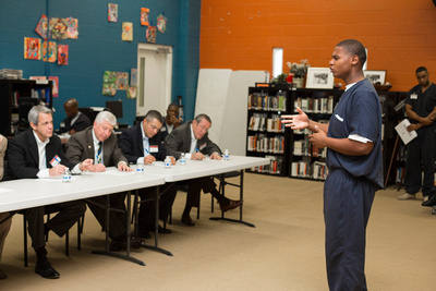 Class 20 Pitch Day at the prison entrepreneurship program