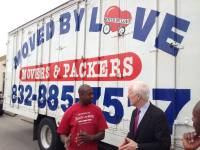 Cedric H (Moved by Love) with U.S. Senator John Cornyn