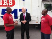 Cedric H (Moved by Love) with U.S. Senator John Cornyn and Demetrius J.