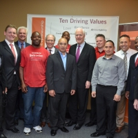U.S. Senator John Cornyn with graduates and staff of the Prison Entrepreneurship Program