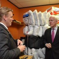 Jeremy Gregg, CDO for the Prison Entrepreneurship Program, giving a tour to U.S. Senator John Cornyn