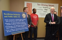 U.S. Senator John Cornyn hosting a press conference at the Prison Entrepreneurship Program's offices