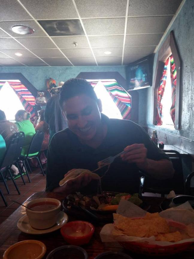 David R., first meal outside the walls