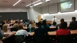 PEP's Bryan Kelley speaking to students at UNT